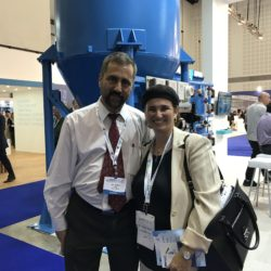 Michelle Baruch with Uri Schorr - head of the Israel Water Authority
