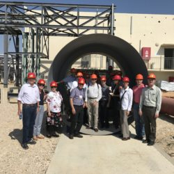Sorek Desalination Plant trip with the AWRA or American Water Resources Association Group on September 10, 2017